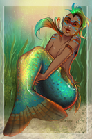 Mermay _05_Pumpkinseed sunfish by Mau-Acheron
