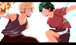 Deku-vs-Bakugou-part by GEVDANO