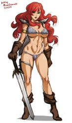 Sketch 355 - Red Sonja by MinaCream