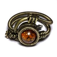 Steampunk ring Amber 1 by CatherinetteRings