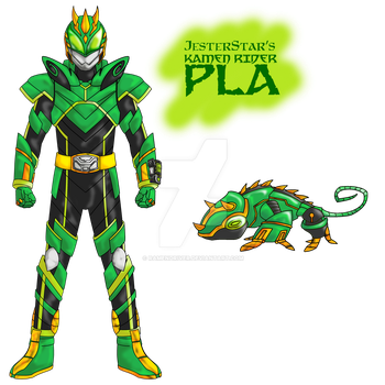 COMMISSION : Kamen Rider Pla by RamenDriver