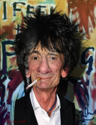 Ronnie Wood of The Rolling Stones by RodneyPike