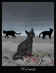 Cat TARO. 5 of Swords by conimeo