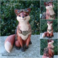 Steampunk Fox by MysticReflections