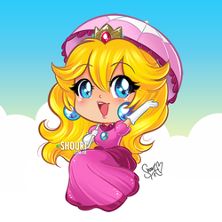 Chibi Princess Peach by ShouriMajo