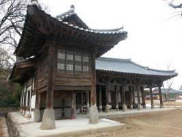 Shaman Temple in Gangneung city by komi114