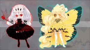 [Closed] Auction Spider girl and Butterfly. by MoonSelena