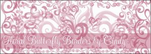 Floral Butterfly Borders by HoneyCunt