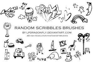 random scribbles brushes by ivadesign