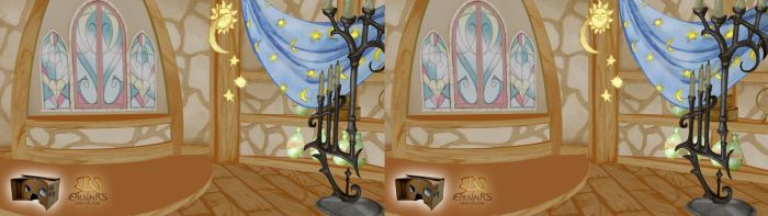 Rapunzel Nabunzel - Interior Tower (3D) by Efrayn