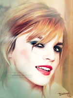 Emma Watson painting by perlaque