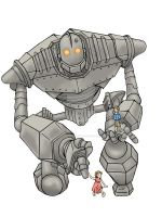 Iron Giant and Friends tattoo by DarkspearDevil