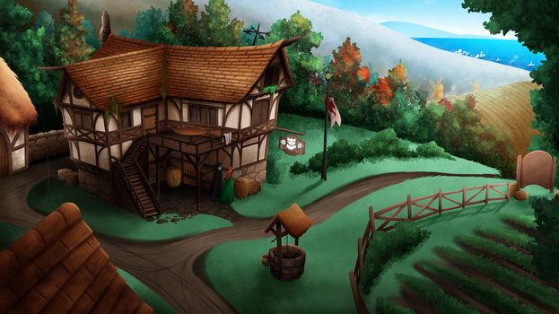 Tavern By Twokinds [16:9] by BlueThunderFox