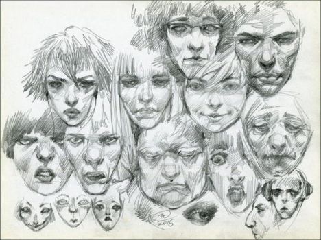 Face sketch by DalfaArt