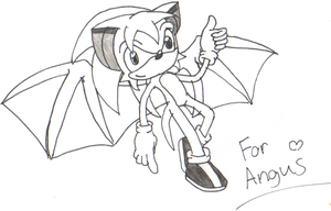 Angus the Hedgebat -Fanart- by 050294