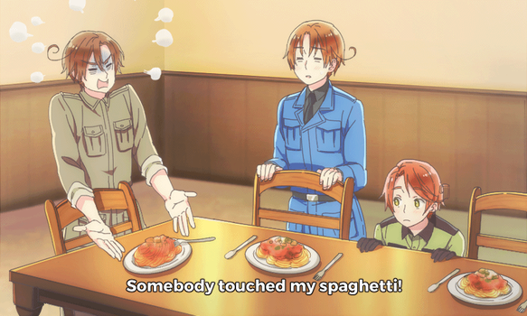 Somebody Touched My Spaghet (APH GIF) by Cioccolatodorima