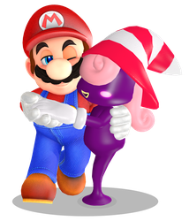 Mario x Vivian (render) by Fawfulthegreat64