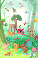 Forest Pokemon by Jiayi
