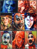 House 1000 Corpses sketch card by choffman36