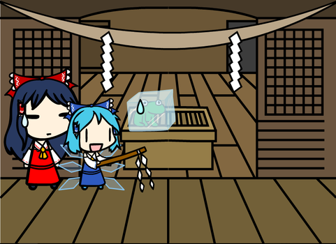 (Walfas remake) Cirno ritual by daigospencer