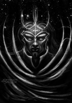 Morgoth with Silmarili concept variation2 by Sirielle