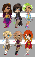 Mixed Themes Adopts: 1/6 OPEN by lesbian-mermaid
