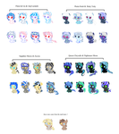 Shipping adoptables 5 points each! -OPEN- by Rainbow-Fluffy