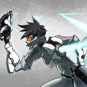 Tracer Greyscale by xTacitusx