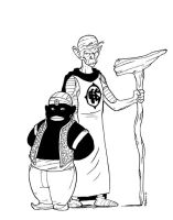 Mr popo and God by CROMOU