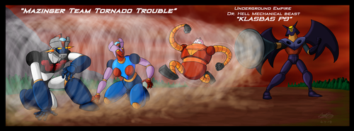 Mazinger Team Tornado Trouble by GearGades