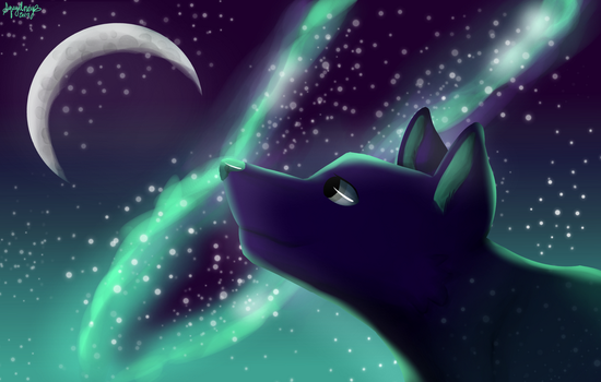 One With The Moon - Speedpaint - AT by Squydney