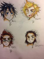 The protagonists of final fantasy 15 by DoodleBunBun