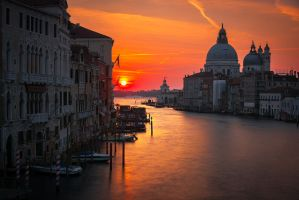 Venice Sunrise by StevenDavisPhoto