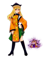 Okina with her beautiful legs by aimturein