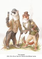 The Weasels by wovenlines