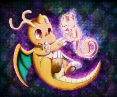 . : Dragonite and Mew : .