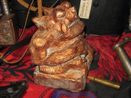 Copper Tsathoggua Idol II by vonmeer