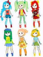 Soda Adoptables: 10 points each (CLOSED) by aquadopts