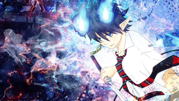 Ao no Exorcist Wallpaper - Rin by umi-no-mizu