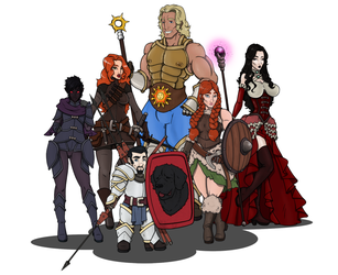 13th Age Group Picture by CandyKappa