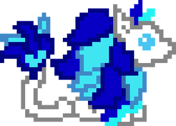 Pixel Azure Blink Animation by pretty-pegasus-wings