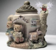 Teapot Faerie Bear's Dream by VisualPoetress