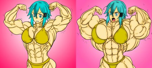 Sinon - Female Muscle Growth by LauriceDeauxnim