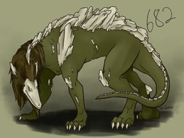 SCP-682 Concept by Hot-Gothics
