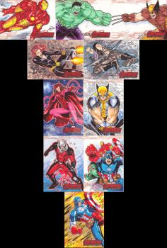 Avengers Age of Ultron Sketch Cards 2