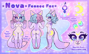 COM: Ref Sheet - Nova Fennec Fox by Dolcisprinkles