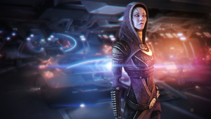 Tali Zorah vas Normandy (Mass Effect) by SallibyG-Ray