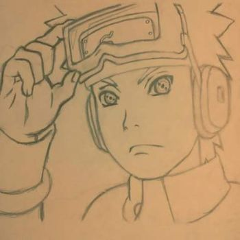 Drawing of Obito Uchiha by InvisibleIS