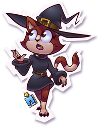 Witch Kitten [2018] by MarkProductions