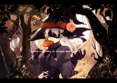 Sweet house's witch in the woods by Akitozan